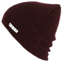 Neff Daily Heather Beanie - maroon/black