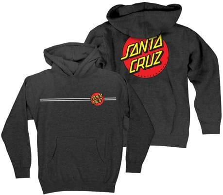Santa Cruz Kids Classic Dot Hoodie - charcoal heather - view large