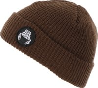 Crab Grab Claw Circle Patch Beanie - brown