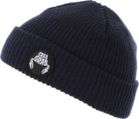 Crab Grab Claw Circle Patch Beanie - navy