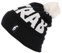 Crab Grab Pom Beanie - black/white