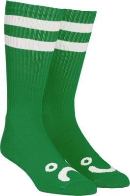 Polar Skate Co. Happy Sad Classic Sock - green/white - view large