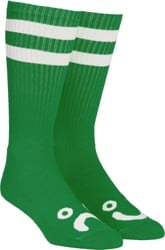 Polar Skate Co. Happy Sad Classic Sock - green/white