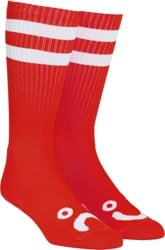 Polar Skate Co. Happy Sad Classic Sock - red/white