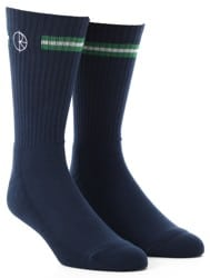 Polar Skate Co. Stroke Logo Sock - navy/green/white