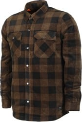 Volcom Bower Polar Fleece Flannel Shirt - old gold