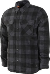 Volcom Bower Polar Fleece Flannel Shirt - asphalt black
