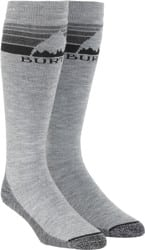 Burton Emblem Midweight Snowboard Socks - gray heather