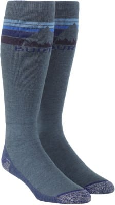 Burton Emblem Midweight Snowboard Socks - indigo heather - view large