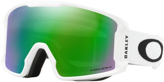 Oakley Line Miner XM Goggles - matte white/prizm snow jade iridium lens - view large