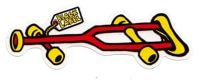 Black Label Crutch Sticker - red/yellow text
