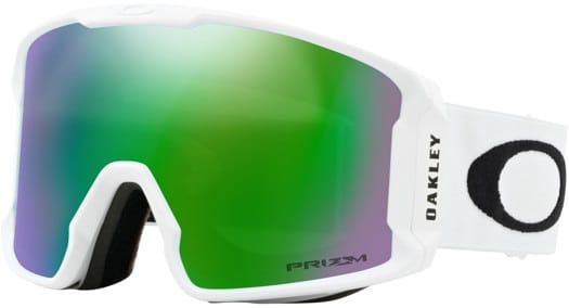 Oakley Line Miner Goggles - matte white/prizm snow jade iridium lens - view large