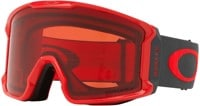 Oakley Line Miner Goggles - red forged iron/prizm snow rose lens