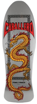 Powell Peralta Caballero Chinese Dragon 10.0 Skateboard Deck - silver - view large