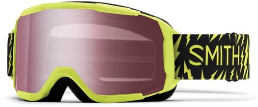 Smith Daredevil Kids Snowboard Goggles - acid boltz/ignitor mirror lens - view large