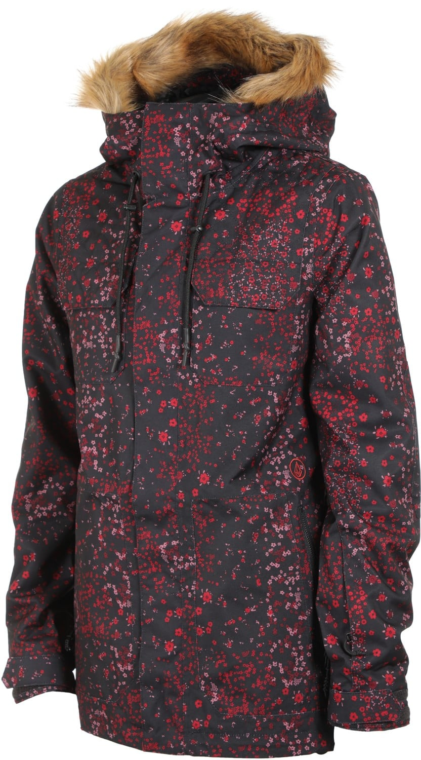 Volcom Shadow Insulated Jacket 2019 Black Floral Print