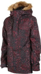Volcom Shadow Insulated Jacket - black floral print