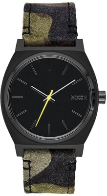 Nixon Time Teller Watch - black/camo/volt - view large