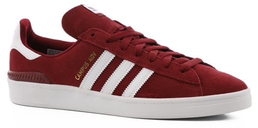 Adidas Campus ADV Skate Shoes - collegiate burgundy/white/white - view large