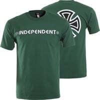 Independent Bar/Cross T-Shirt - forest green