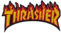 Thrasher Flame Patch - yellow text
