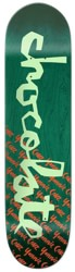 Chocolate Yonnie Original Chunk 8.125 Skateboard Deck - green stain