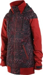 Volcom Meadow Insulated Jacket - black floral print