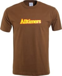 Alltimers Broadway T-Shirt - coffee