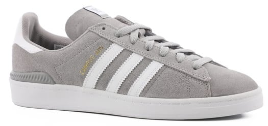 Adidas Campus ADV Skate Shoes - mgh solid grey/white/white - view large