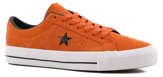 Converse One Star Pro Skate Shoes - campfire orange/black/white - view large