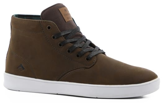 Emerica Romero Laced High Skate Shoes - brown/white - view large
