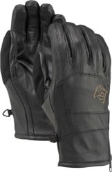 Burton AK Leather Tech Gloves - true black