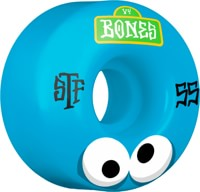 Bones STF V4 Skateboard Wheels - googly blues (103a)