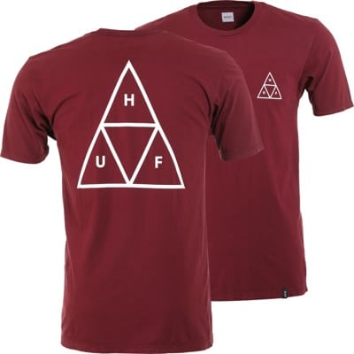 HUF Essentials Triple Triangle T-Shirt - port royale - view large