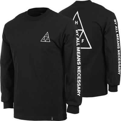 HUF Essentials Triple Triangle L/S T-Shirt - view large