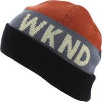 WKND Collision Beanie - red