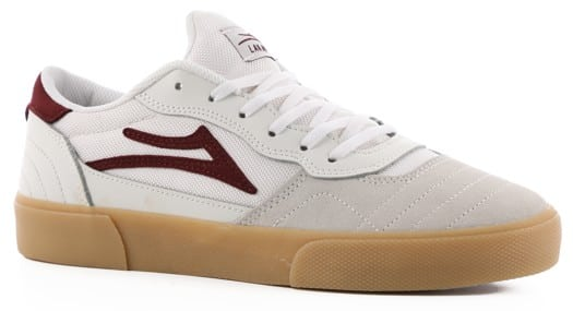 Lakai Cambridge Skate Shoes - white/burgundy - view large