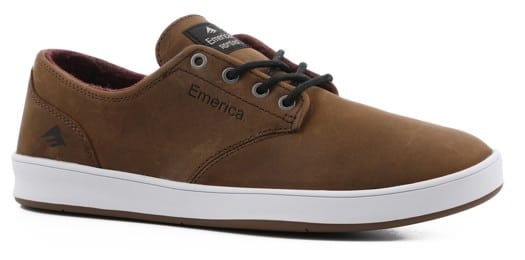 Emerica Romero Laced Skate Shoes - brown/grey/white - view large