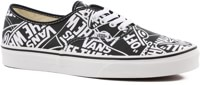 Vans Authentic Skate Shoes - (otw repeat) black/true white
