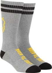 Spitfire Heads Up Sock - heather grey/yellow/black