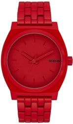 Nixon Time Teller Watch - monochromatic red