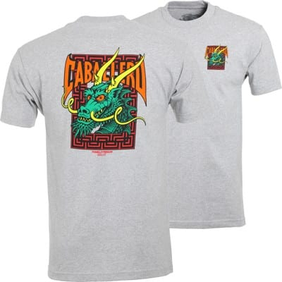 Powell Peralta Caballero Street Dragon T-Shirt - grey/green - view large