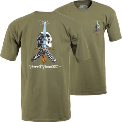 Powell Peralta Skull & Sword T-Shirt - military green - view large