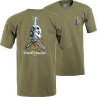 Powell Peralta Skull & Sword T-Shirt - military green