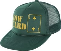 Lowcard Original Logo Mesh Trucker Hat - all dark green