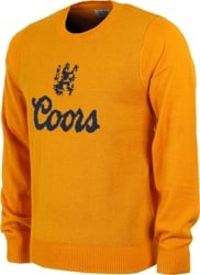 Brixton Coors Hops Crew Sweater - gold