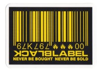 Black Label Barcode Sticker - yellow/yellow
