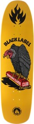 Black Label Vulture Curb Club 8.88 Skateboard Deck - yellow dip