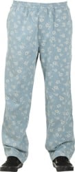 Polar Skate Co. Surf Pants - light blue floral