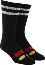 Toy Machine Monster Face Crew Sock - black